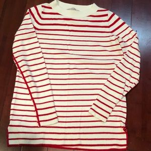 Loft red and white striped sweater